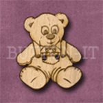 Teddy Bear Button laser cut from solid beechwood