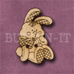 Rabbit Button laser cut from solid beechwood