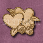 099 Hearts & Flowers 38mm x 30mm