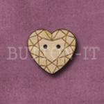 1034 Diamond Heart 19mm x 18mm