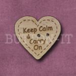 1038 Keep Calm & Carry On Heart 24mm x 23mm