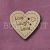 1040 Live Laugh Love Heart 24mm x 23mm