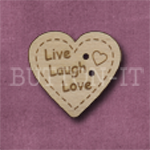 1040 Live Laugh Love Heart 24mm x 23mm