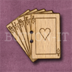130 Playing Cards 30mm x 30mm
