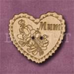 152 Heart Mum 33mm x 30mm