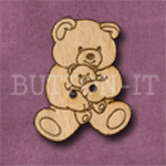 164 Teddy Bear with Teddy 24mm x 30mm