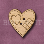 359 Heart 25mm x 26mm