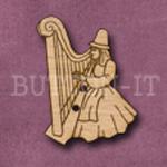 421 Welsh Lady Harp 23mm x 31mm