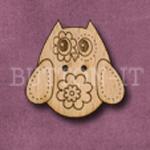 596 Retro Owl 27mm x 26mm