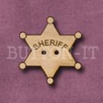 611 Sheriff Badge 24mm x 27mm