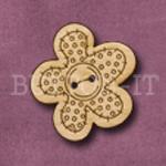 627 Button Flower 26mm x 28mm