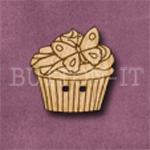 658 Cupcake with Butterfly 23mm x 23mm
