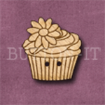 659 Cupcake with Flower 23mm x 24mm