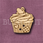 661 Cupcake with Heart 23mm x25mm