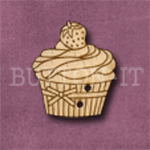 662 Cupcake with Strawberry 23mm x26mm