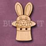 686 Rabbit in Hat 23mm x 34mm
