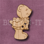 732 Kissing Teddy Bear 21mm x 33mm