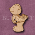 733 Kissing Teddy Bear 21mm x 33mm