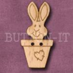734 Rabbit in Flowerpot 18mm x 37mm