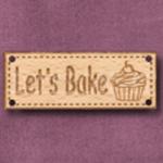 767 Let's Bake Sign 42mm x 16mm