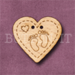 806 Baby Feet Heart 27mm x 25mm