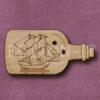 907 Ship in a Bottle 36mm x 18mm