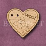 929 Woof Heart 29mm x 26mm