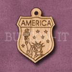 America Charm 22mm x 31mm