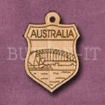 Australia Charm 22mm x 31mm