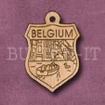 Belgium Charm 22mm x 31mm