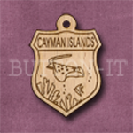 Cayman Islands Charm 22mm x 31mm