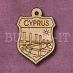 Cyprus Charm 22mm x 31mm