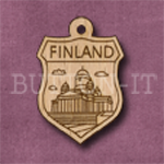 Finland Charm 22mm x 31mm