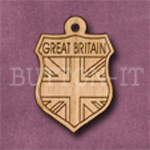 Great Britain Charm 22mm x 31mm