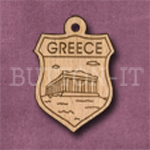 Greece Charm 22mm x 31mm