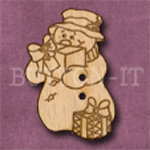 X009 Snowman Button 23mm x 35mm