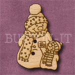 X012 Snowman Button 24mm x 35mm