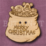 X014 Christmas Sack Button 31mm x 35mm