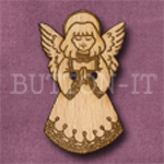 X016 Angel Button 21mm x 35mm