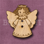 X019 Angel Button 28mm x 30mm