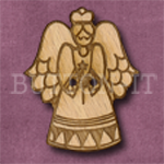 X020 Angel Button 28mm x 35mm