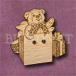 X022 Teddy in Present Button 29mm x 30mm