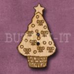 X024 Christmas Tree Button 21mm x 35mm
