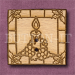 X030 Square Candle 32mm x 30mm