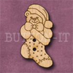 X036 Teddy Bear Stocking Button 18mm x 35mm