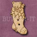 X037 Teddy Bear Stocking Button 17mm x 36mm
