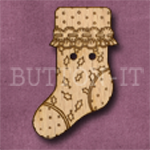 X038 Christmas Stocking Button 21mm x 35mm