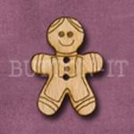 X040 Gingerbread Man Button 22mm x 30mm