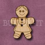 X042 Gingerbread Girl Button 22mm x 30mm