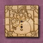 X048 Square Snowman Button 32mm x 30mm
